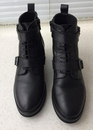 Женские кожаные ботинки оffice london демисезон осень весна са...