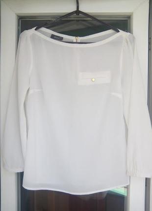 Женская белая блузка yessica с рукавами полупрозрачная рубашка...