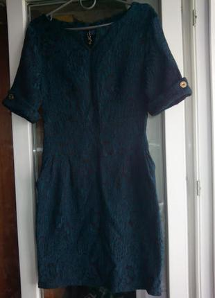 Женскон платье футляр по фигуре с рукавом короткое нарядное зе...