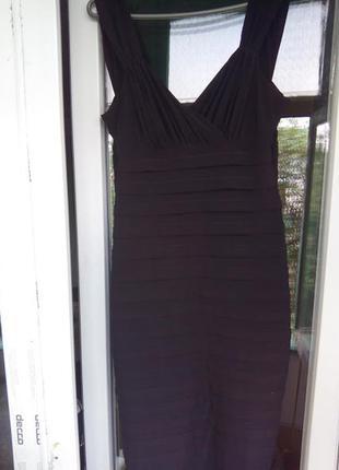 Женское черное вечернее нарядное платье миди  футляр коктейльное