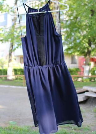 Нарядное летнее платье h&m открытые плечи коктейльное вечернее