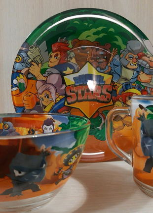 "Детский набор посуды""Brawl Stars"""
