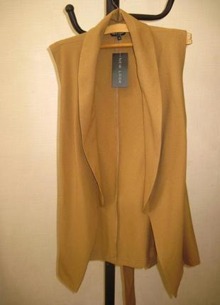 Жилетка, безрукавка жакет без рукавов пиджак  кардиган  new look