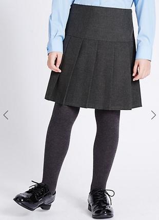 Школьная  серая юбка на девочку  marks & spenser  6 7 8 лет в ...