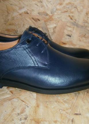 Туфли мужские классика повседневные молодежные кожаные на шнур...