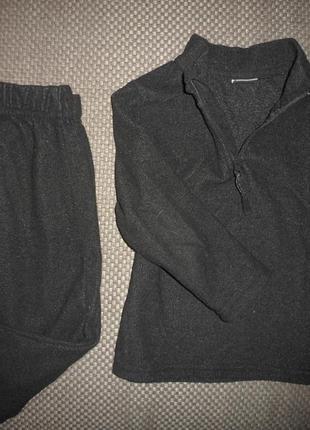 Флисовый спортивный  костюм штаны и кофта на мальчика 2 - 3 года