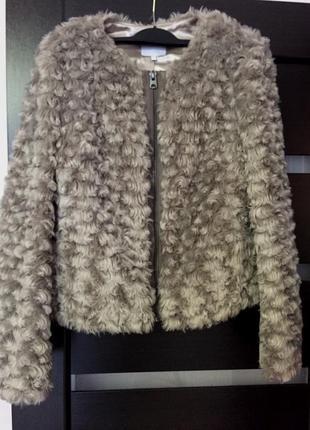 Женская демисезон утепленная меховая куртка бомбер осень полуш...