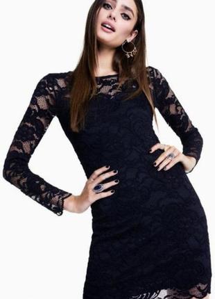 Женское вечернее нарядное кружевное платье миди футляр takko f...