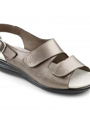40- 41 разм. фирменные босоножки hotter comfort concept. кожа