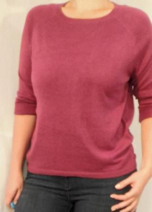 Мягкий тонкий вязаный розовый джемпер кофта свитер matalan пул...