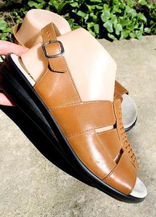 40-41 разм. удобные босоножки hotter comfort concept. кожа