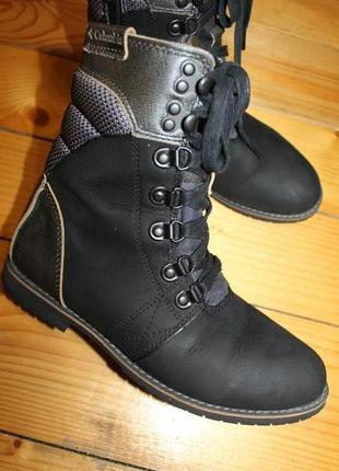 38 разм. ботинки columbia. нубуковая кожа. оригинал