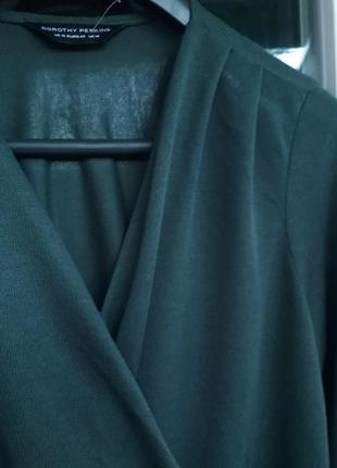 Dorothy perkins изумрудный джемпер на запах пуловер зеленая кофта