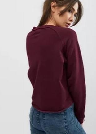 M&s collection марсала теплый свитшот кофта красный пуловер