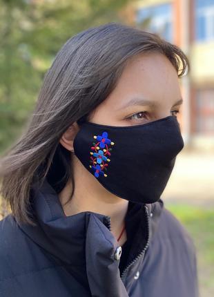 маски защитные многоразовые с вышивкой