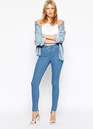 Marks&spencer jeggings 12 40 голубые джинсы джеггинсы высокая ...