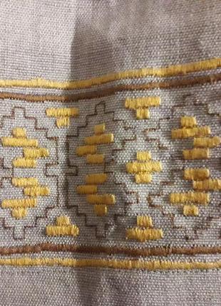 Этнический костюм вышиванка юбка жилетка женский кремовый бежевый