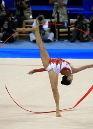 Лента для художественной гимнастики красная 2468-30