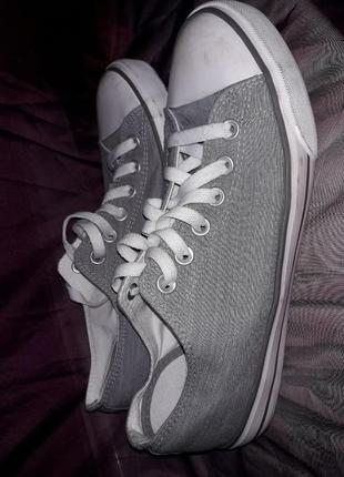 Primark серые белые кеды мокасины кроссовки 40 41 размер
