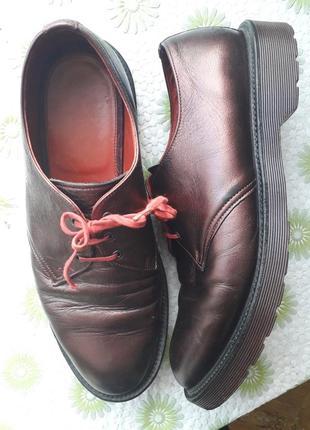 Мужские кожаные туфли dr. martens мартинсы демисезон весна осе...