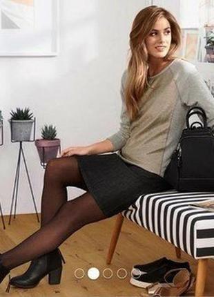 Tcm tchibo woman серый свитшот с люрексом германия джемпер пул...