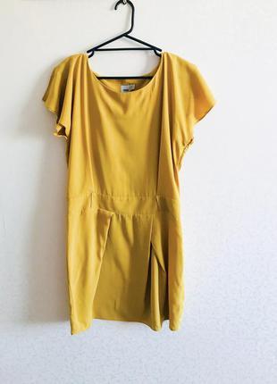 Платье,летнее платье, asos,легкое платье, горчичного цвета