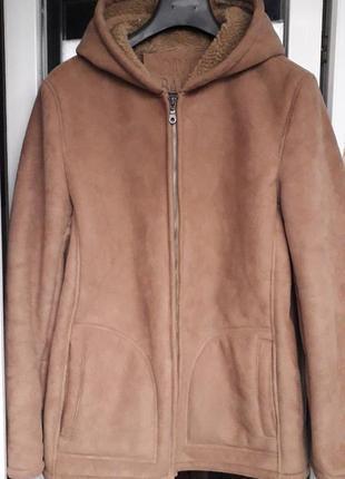 David barry женская куртка дубленка демисезон зима осень с мех...