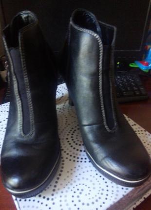 Женские кожаные ботинки 38 размер кожа демисезон весна осень н...