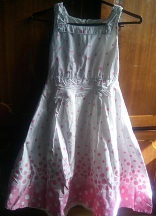 Нарядное платье в горошек на девочку выпускной