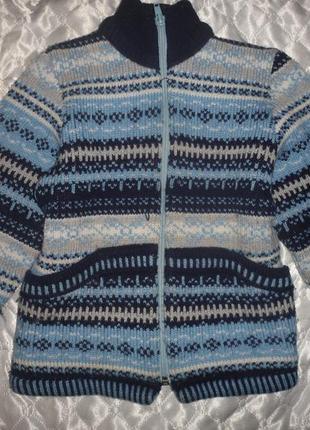 Теплая кофта мальчику девочке 2 3 года осень зима