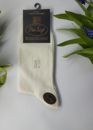 Мужские однотонные хлопковые носки  pier luigi буква