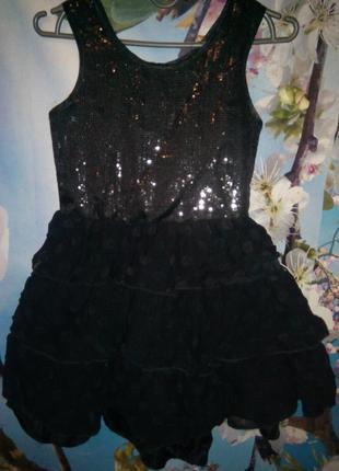 Карнавальное праздничное маскарадное черное платье хэллоуин на...