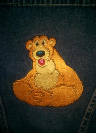 Джинсовая куртка мальчику девочке с вышивкой