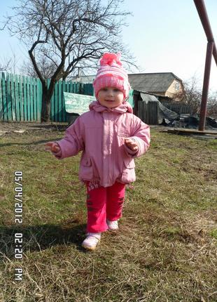 Куртка комбинезон трансформер coccodrillo демисезон на девочку