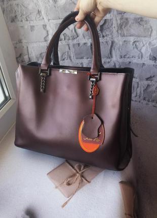 Кожаная женская сумка жіноча шкіряна а4
