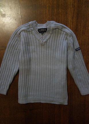 Модный свитер реглан в рубчик logg h&m на мальчика демисезон х...