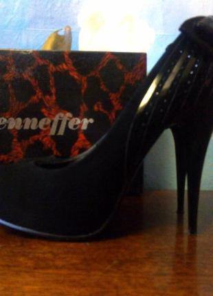 Туфли на высоком каблуке шпилька jenneffer замш нубук