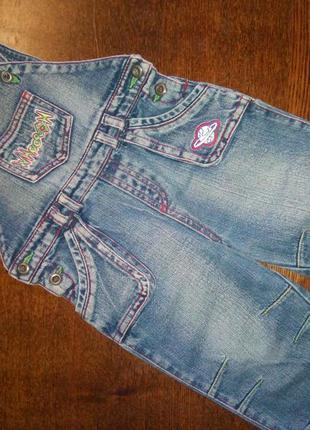 Прикольный джинсовый комбинезон на мальчика демисезон