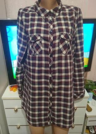 Хлопковая двойная рубашка lc waikiki xxl - 3xl