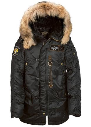 Куртка аляска Alpha Industries N-3B 55th Anniversary Parka, чорна