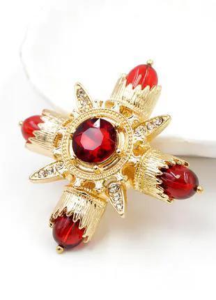 Женская брошка CINDY XIANG, красная Винтажная брошь в стиле барок