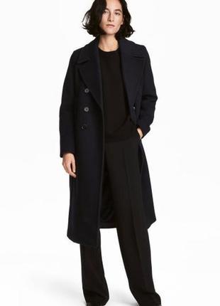 Пальто h&m,раз eur46,us16,темно-синее