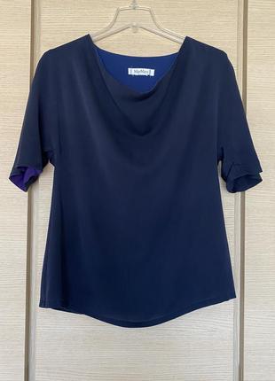 Блуза эксклюзив шёлковая оригинал max mara размер xl