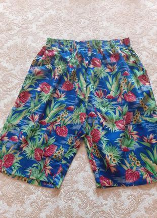 Яркие летние шорты с фламинго