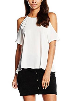 Базовая футболка топ со спущенными плечами №71 new look