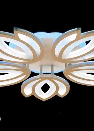 Светодиодная люстра с пультом-диммером и синей