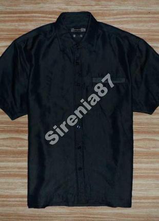 Стильная темно-синяя рубашка №112