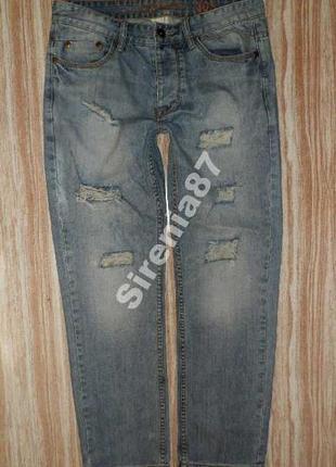 Стильные джинсы с потертостями №190