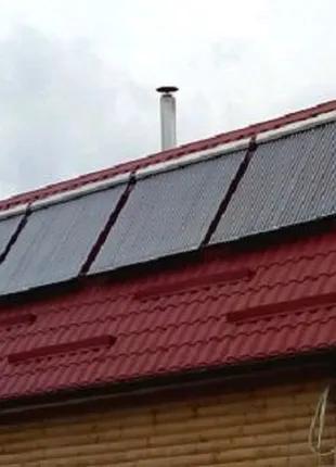 Установка, монтаж солнечных вакумных коллекторов