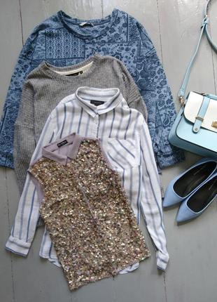 Актуальная блуза топ в пайетках №136